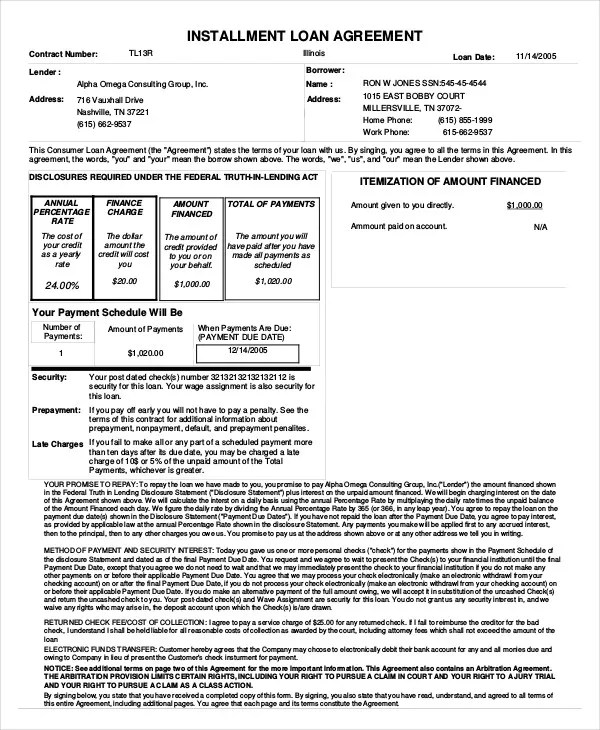 Loan Agreement Template - 11+ Free Sample, Example, Format Free - free loan document template
