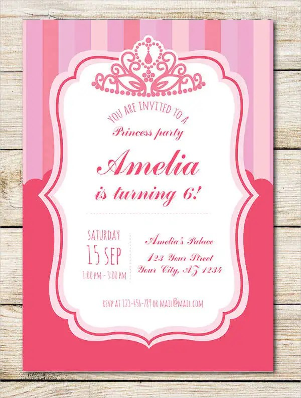 18+ Beautiful Princess Invitations - PSD, AI Free  Premium Templates