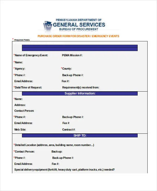 Purchase Order Form - 10+ Free Word, PDF Documents Download Free - purchase order template word