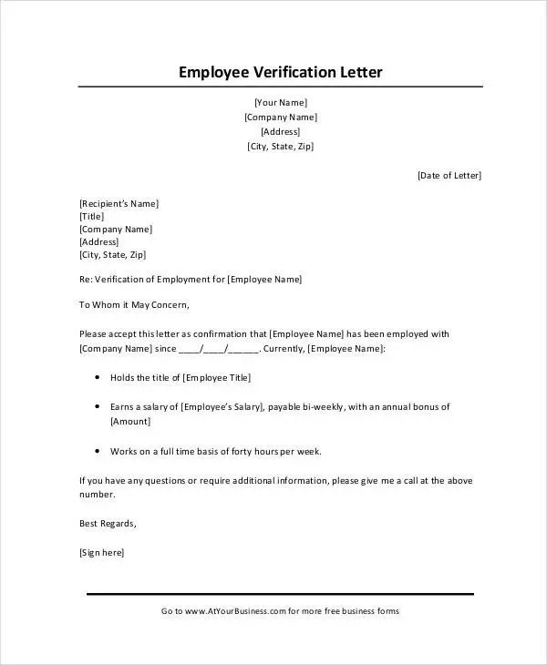 verification letter format - Goalgoodwinmetals