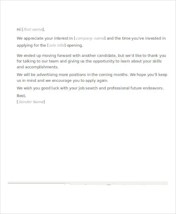 How To Write A Good Job Rejection Letter - Letter Idea 2018 - rejection letter sample