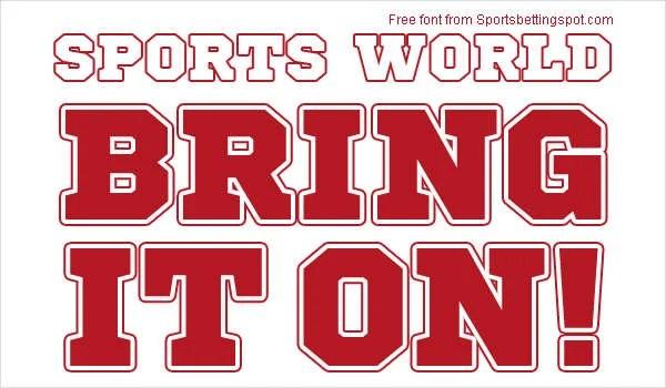 17+ Sports Fonts - Free TTF, OTF Format Download Free  Premium