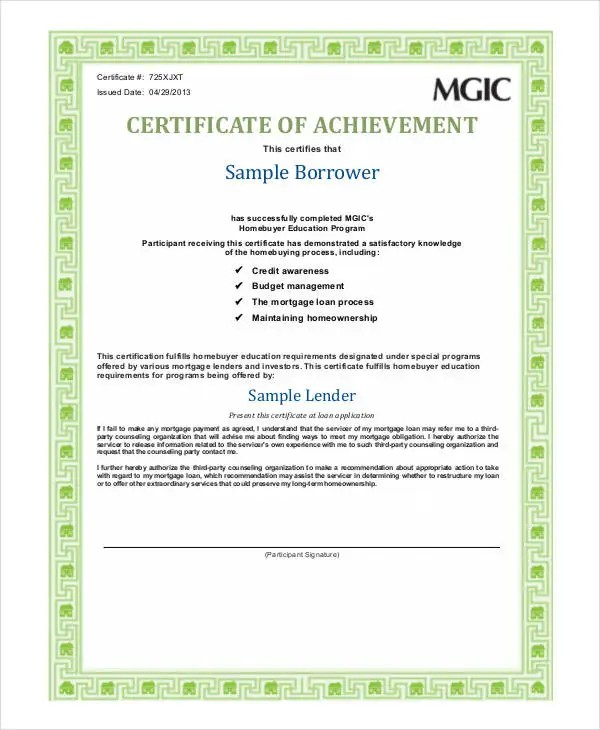 Certificate Of Achievement Templates - 11+ Word, PDF, PSD, AI