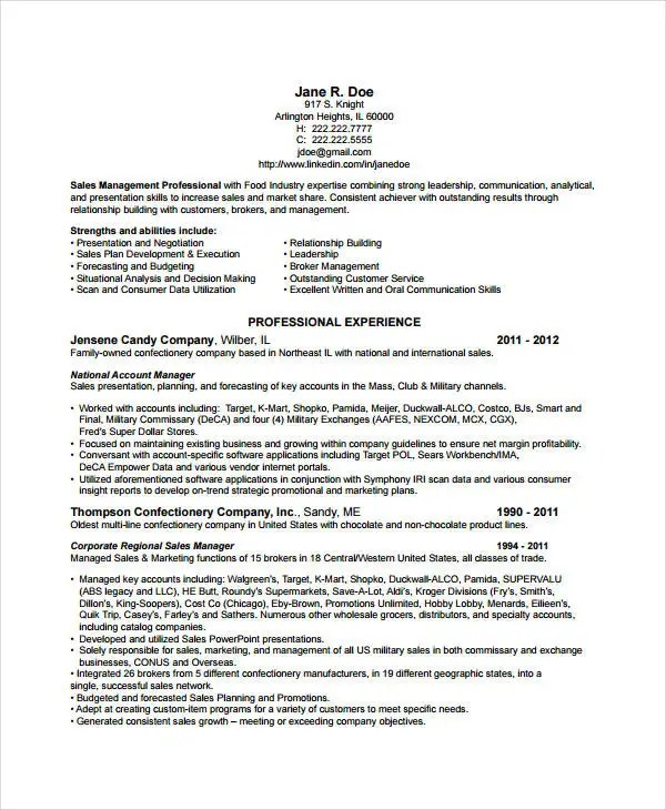 10+ Account Manager Resume Templates - PDF, DOC Free  Premium