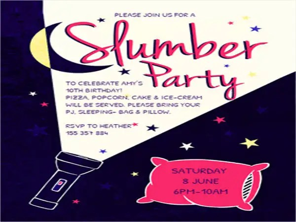 17+ Slumber Party Invitations - Free PSD, AI, Vector, EPS Format