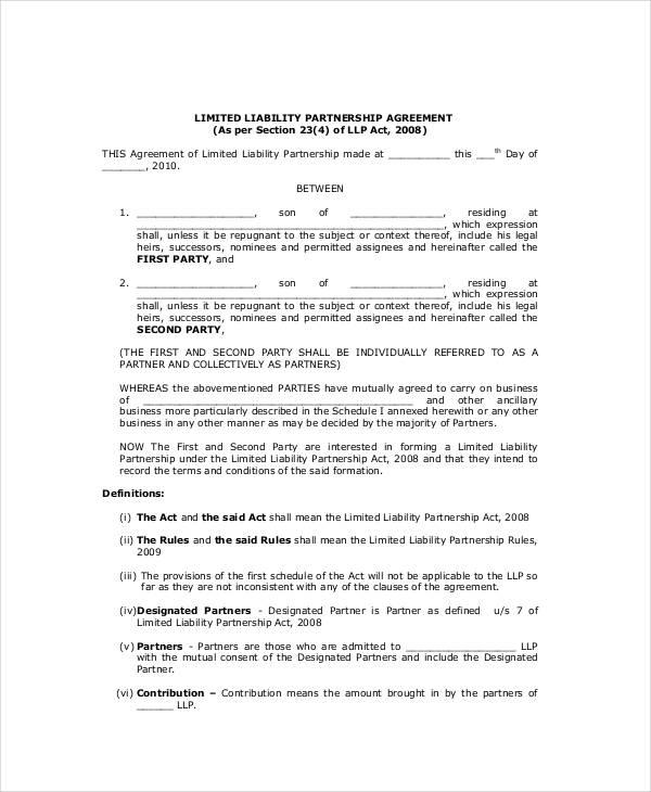 General Partnership Agreement - 14+ Free PDF, Word Documents