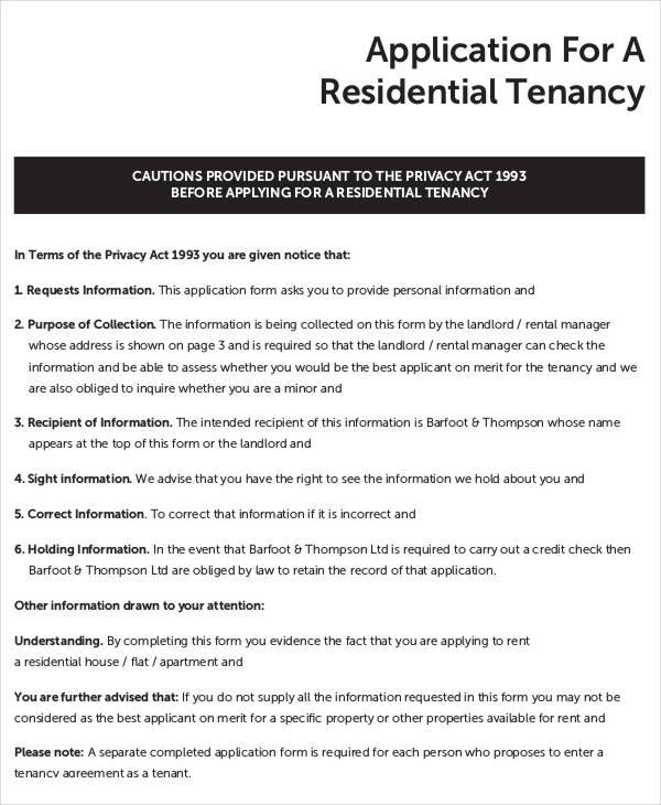 apartment application form hitecauto - tenant application form