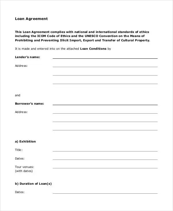 Loan Agreement Form - 14+ Free PDF Documents Download Free - printable loan agreement form