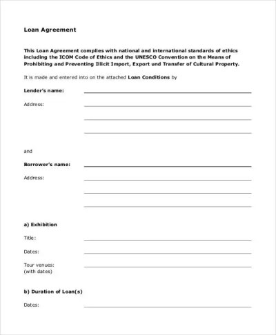 Loan Agreement Form - 14+ Free PDF Documents Download   Free & Premium Templates