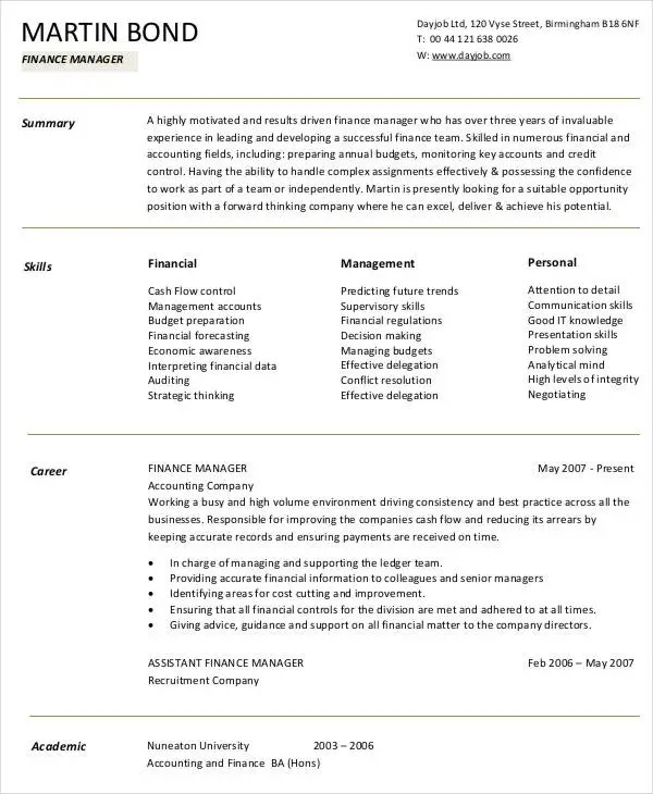 Treasury analyst resume objective