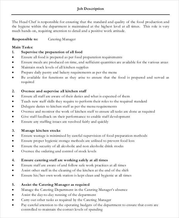 line cook job description