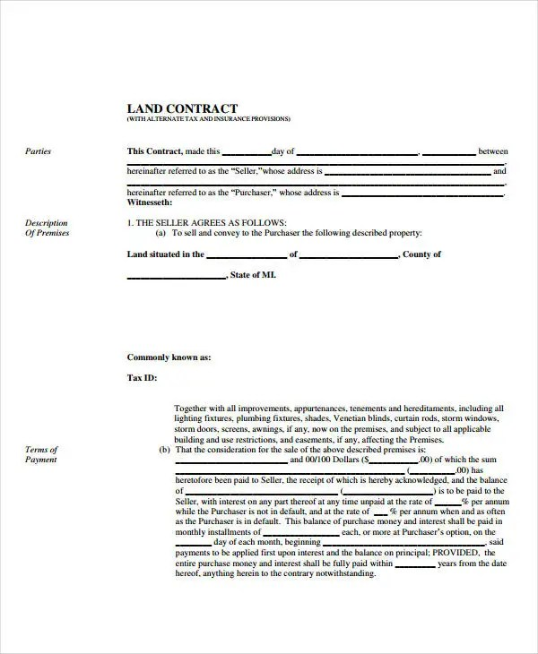 Sales Contract Template - 9+ Free PDF Documents Doownload Free