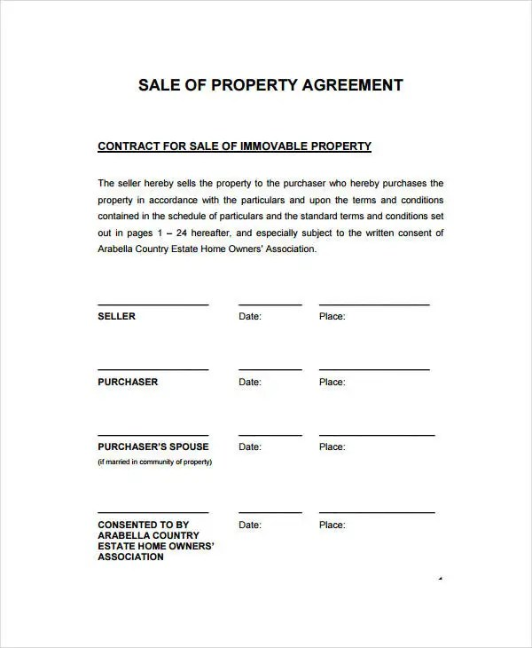 Sales Contract Template - 9+ Free PDF Documents Doownload Free - Home Sales Contract