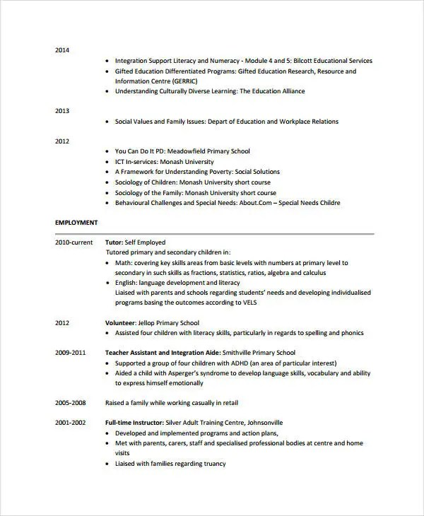 teacher assistant resume samples xv-gimnazija