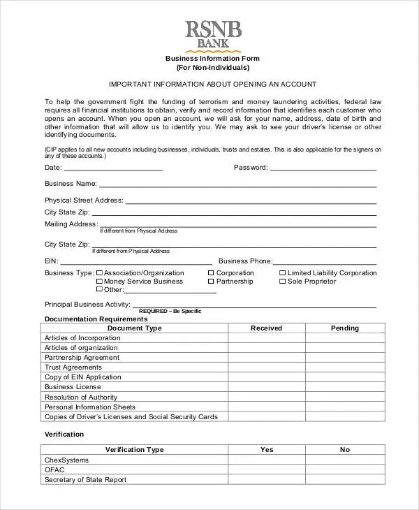 Business Forms - 8+ Free Word, PDF Documents Download Free - business form