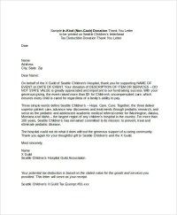 Donation Thank You Letter Template Tax - sample donation ...