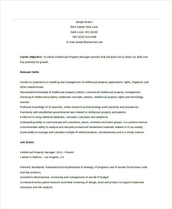 10+ Property Manager Resume Templates - PDF, DOC Free  Premium - property manager resume