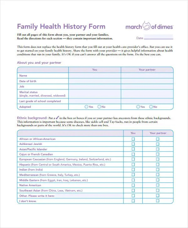 Medical History Form - 9+ Free PDF Documents Download Free