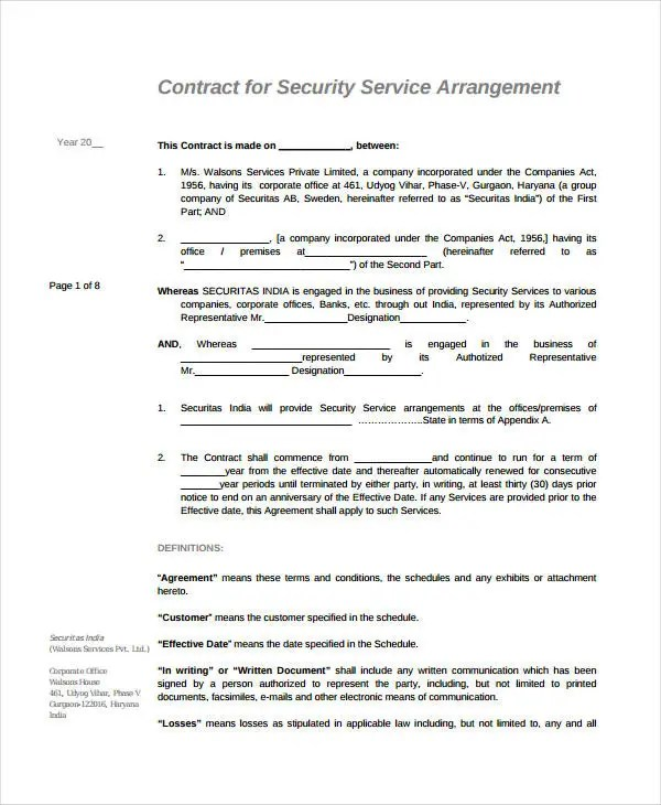 Contract Agreement Between Two Parties Sample Node2003 Cvresume