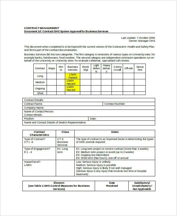 Business Contract Template - 7+ Free Word, PDF Documents Download - business service contract template