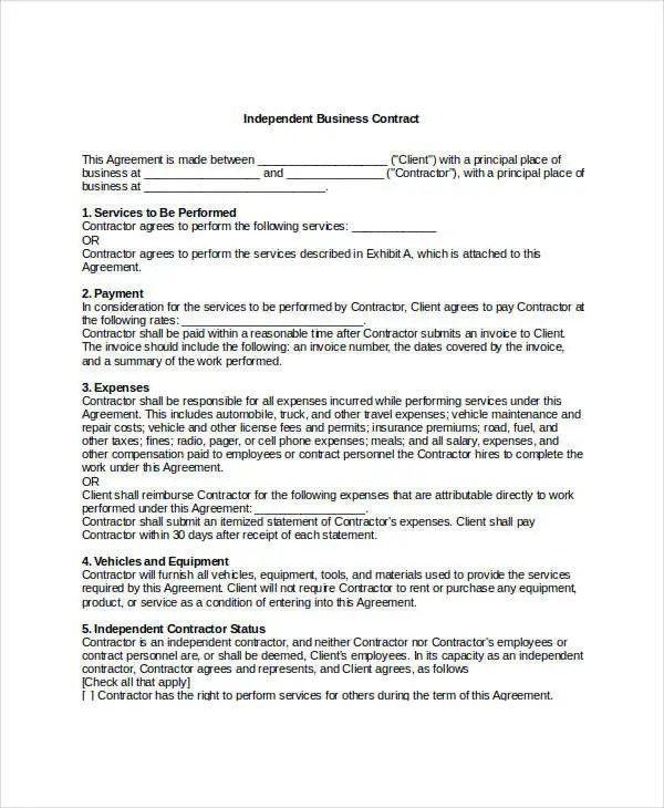 Business Contract Template - 7+ Free Word, PDF Documents Download