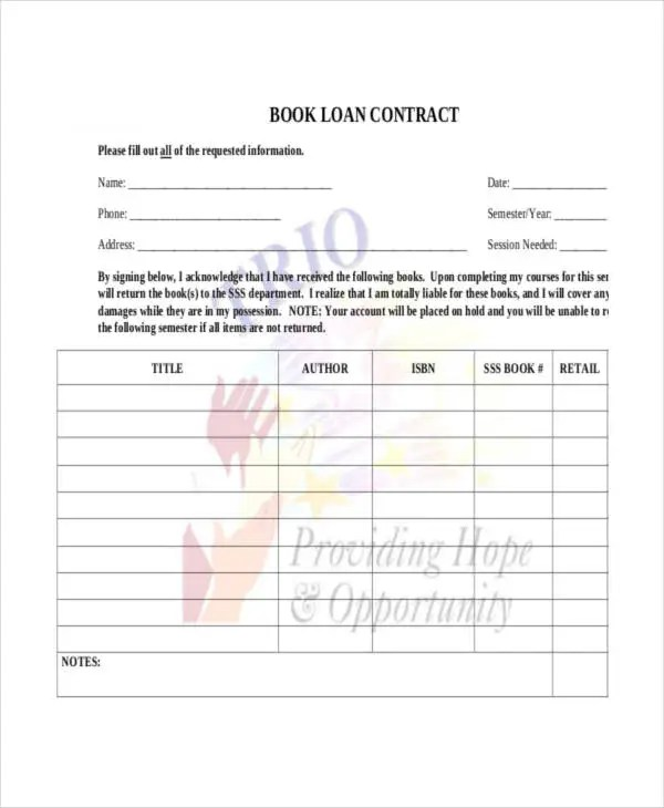 Loan Contract Template - 7+ Free PDF Documents Downloads Free - money loan contract template