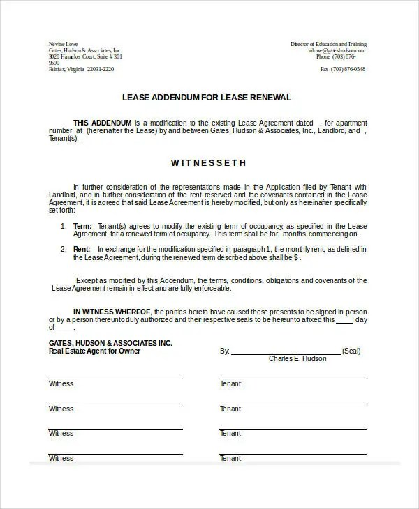 Lease Form - 9+ Free Word, PDF Documents Download Free \ Premium - lease renewal form