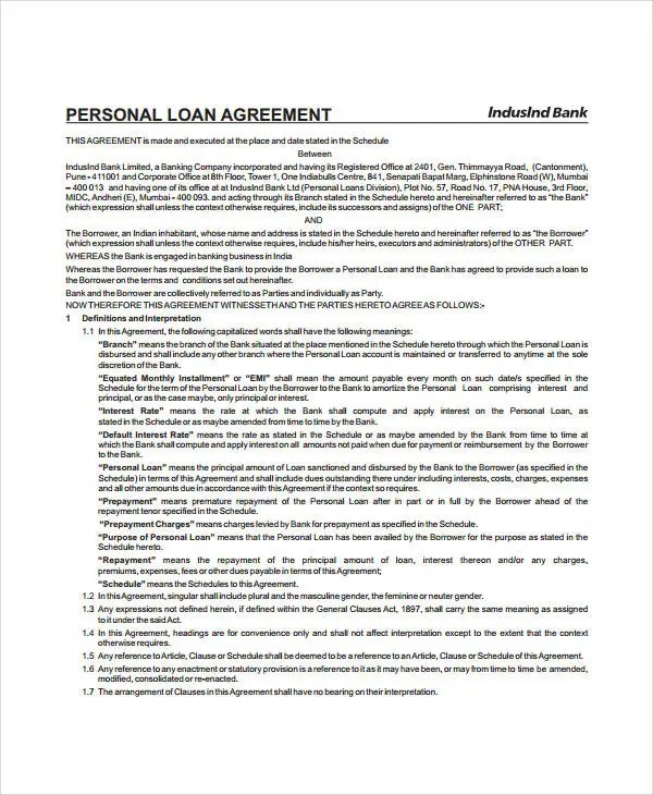 Mortgage Agreement Template - mandegarinfo