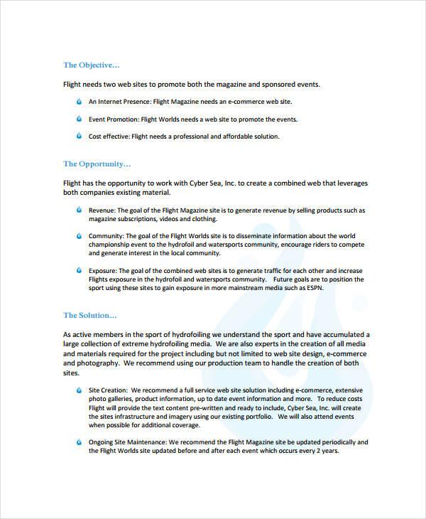 professional proposal templates