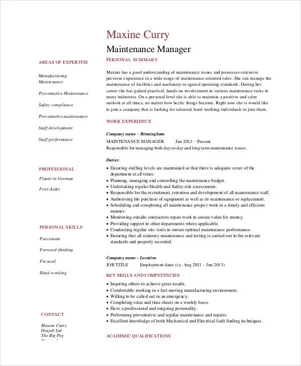 Tips for Writing College Papers - IPFWedu resume maintenance - maintenance manager resume sample