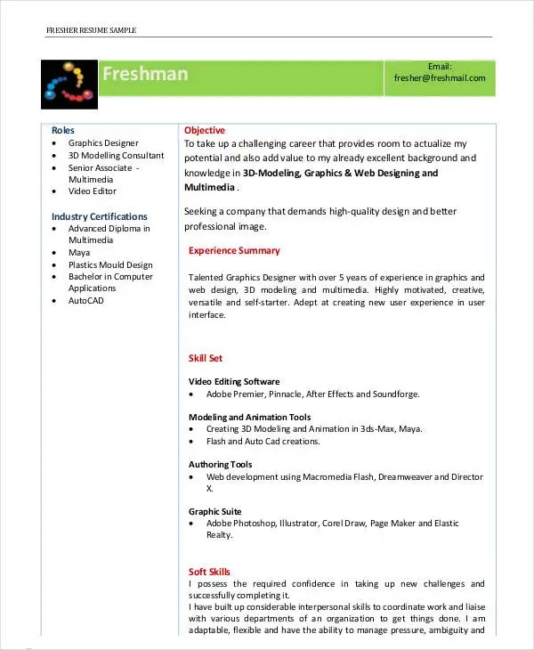 First Job Resume - 7+ Free Word, PDF Documents Download Free - Modeling Career Resume