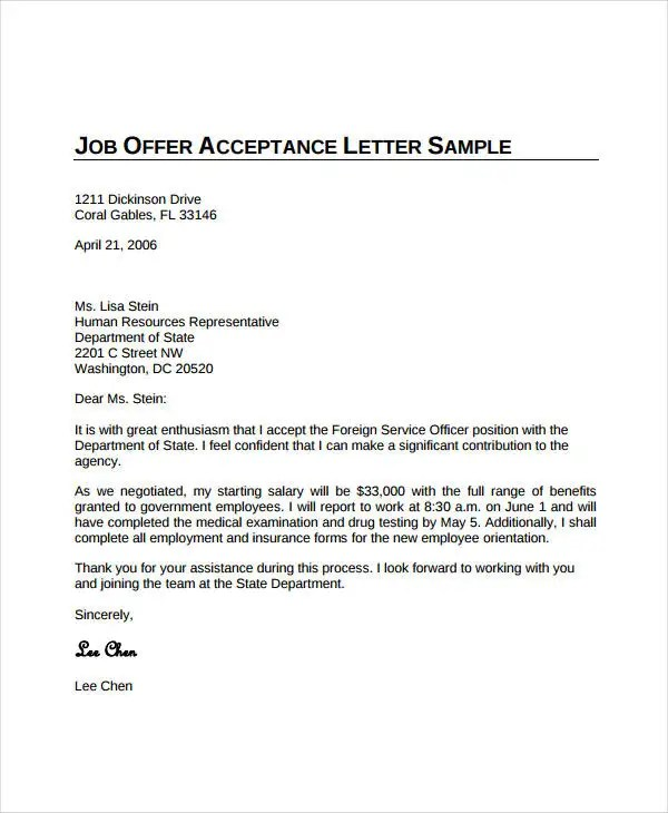 Government Job Offer Letter Sample | How To Write A Basic Resume