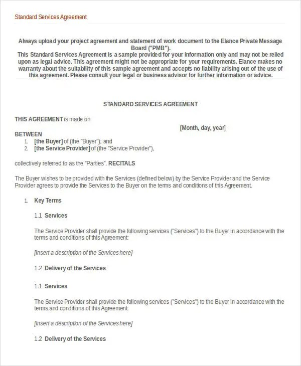 Service Agreement Template - 10+ Free Word, PDF Documents Download - free service agreement template