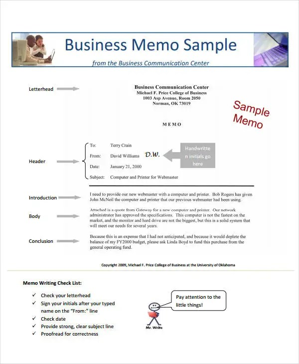Business Memo Format - 18+ Free Sample, Example, Format Free