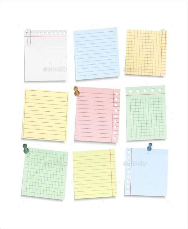Printable Notebook Paper - 9+ Free PDF Documents Download Free - Notebook Paper Template