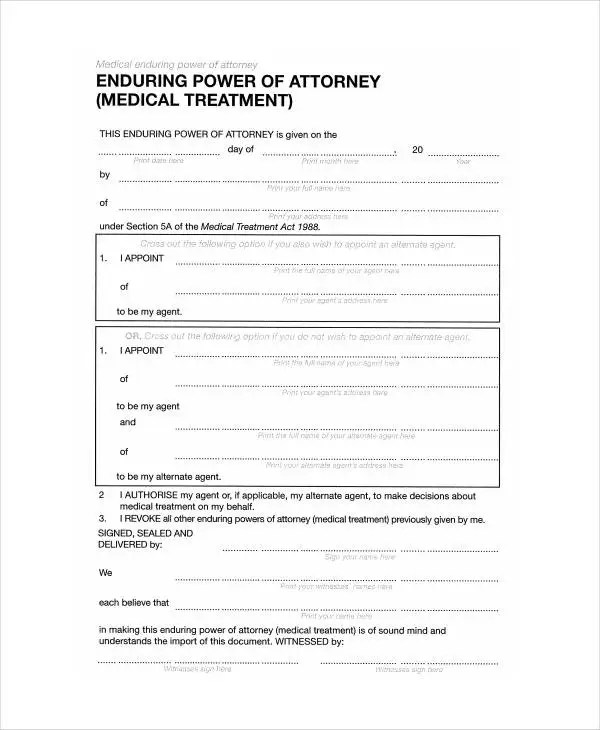 9+ Medical Power Of Attorney Forms - Free Sample, Example, Format