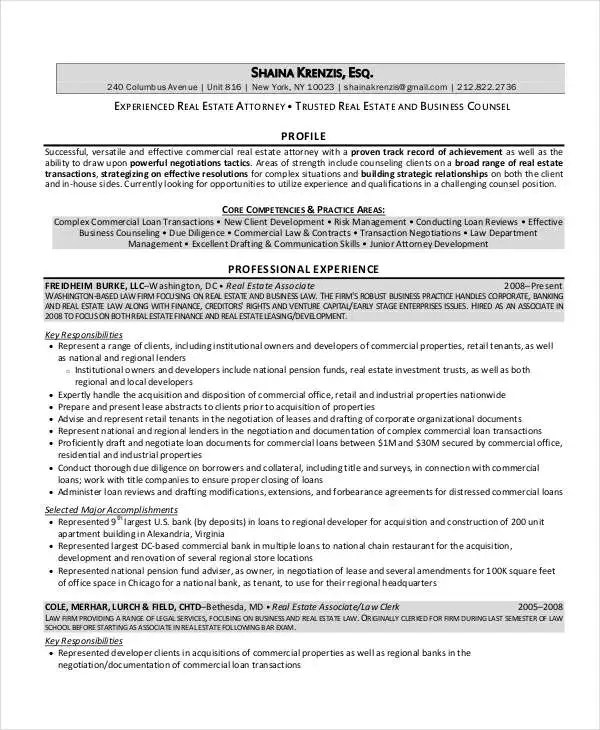 real estate attorney resume - Ozilalmanoof