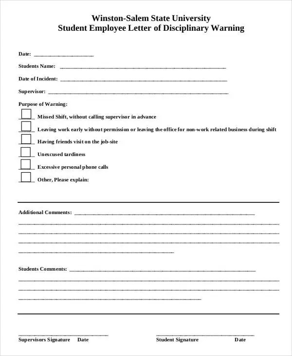 Employee Write Up Form - 6+ Free Word, PDF Documents Download Free