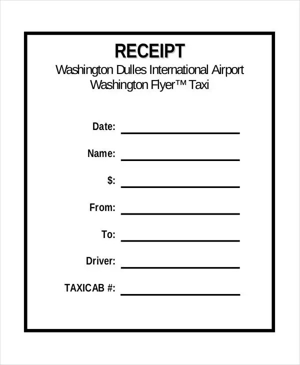 5+ Sample Taxi Receipt Templates - Free Sample, Example Format