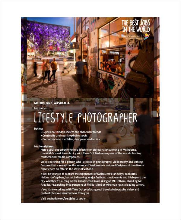 Doc#600730 Photographer Job Description u2013 Photographer Job - photographer job description