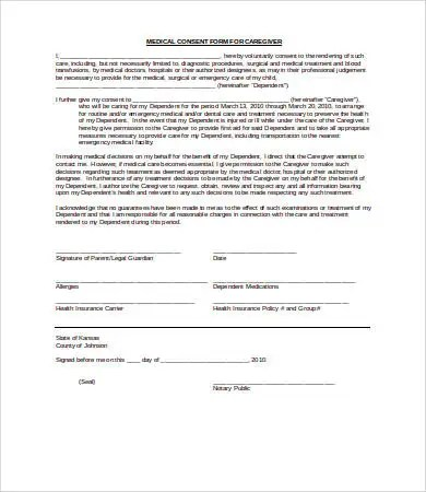 Medical Consent Form - 9+ Free PDF, Word, Documents Download Free