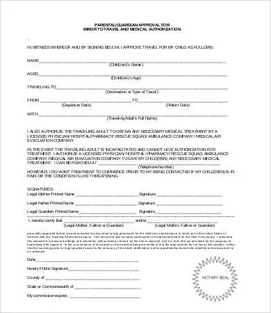 medical consent form for minor - Divingthexperience