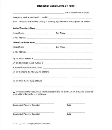 Medical Consent Form - 9+ Free PDF, Word, Documents Download - consent form