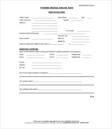 Medical Consent Form - 9+ Free PDF, Word, Documents Download Free - medical consent form