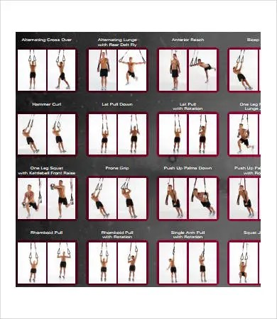 Exercise Chart Template kicksneakers