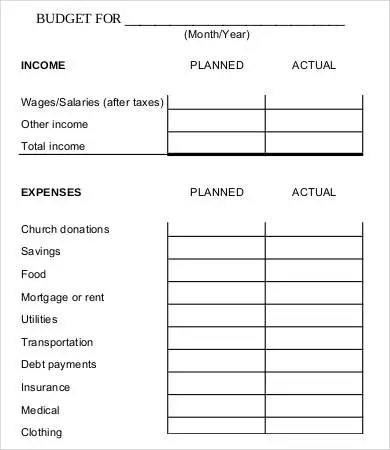 7+ Family Budget Worksheet Templates - Word, PDF, Excel Free
