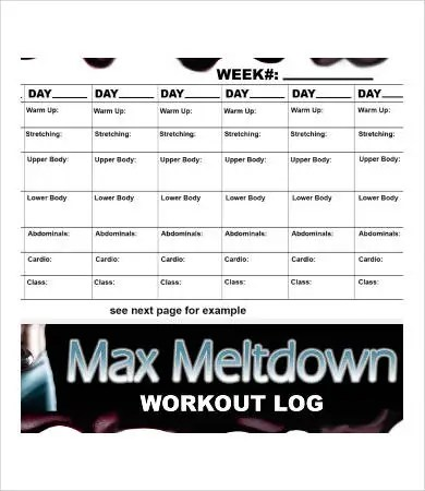 Workout Log Template - 8+ Free Word, PDF Documents Download Free