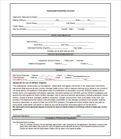 12+ Catering Contract Form Templates Free Word, PDF Samples - catering contract template