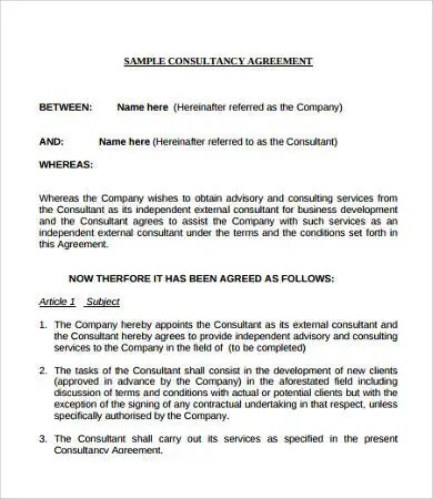 9+ Contract Agreements - Free Sample, Example, Format Free - contractual agreement template