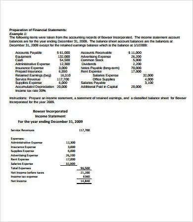 Simple Income Statement - 11+ Free PDF, Word Documents Download